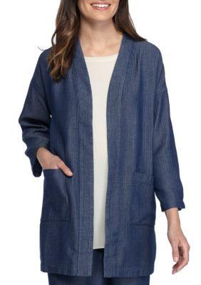 Eileen Fisher Women's Kimono Jacket - Denim - Xxs