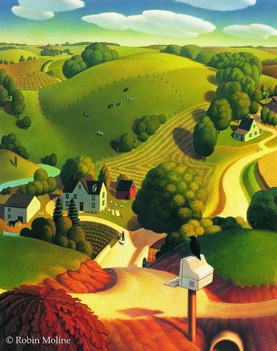 Bird's Eye View by Robin Moline, American illustrator and artist