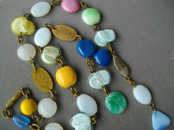 Vintage Necklace Val Harel Lampwork Glass Beads Vancouver