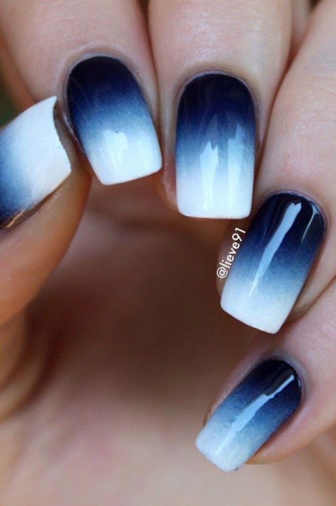 blueombre | blue ombre in 2019 | Blue ombre nails, Blue acrylic