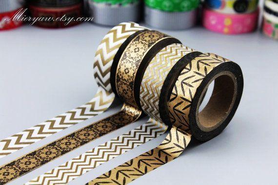 4 Rolls Washi Tapes  Japanese Washi Tape  Masking Tape  by mieryaw