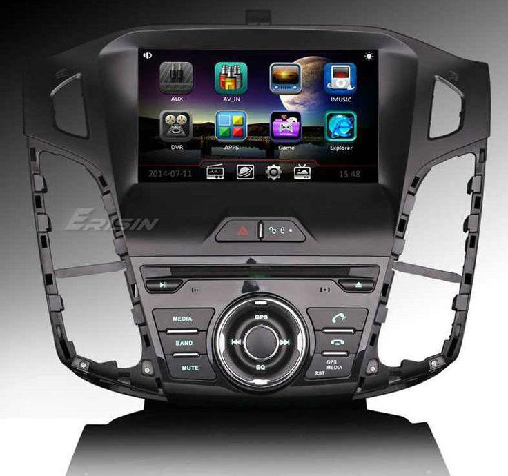 """Erisin ES8016F 8"""" Car Multimedia DVD GPS RDS Radio SWC VNCD FORD FOCUS 2012 2014 #Erisin"""