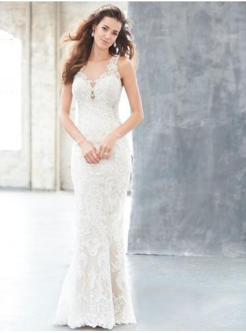 abiti da sposa da sposa guaina in pizzo