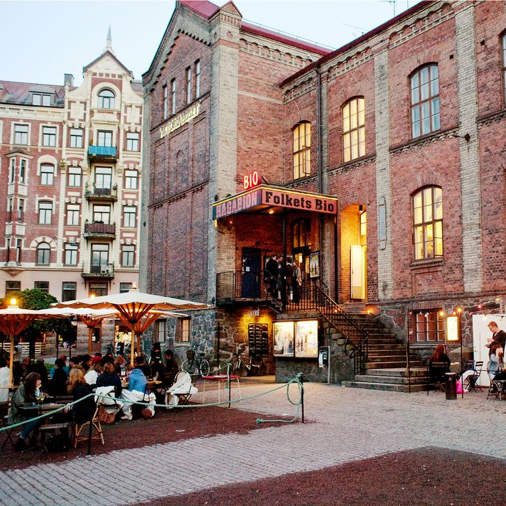 Hagabion Café, Gothenburg Sweden. │ Ambitious vegetarian restaurant, popular indie hangout and crowded outdoor terrace in the summer.
