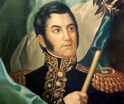 (Gral. José de San Martín, llamado el Libertador o Padre de la Patria en Argentina; Corrientes, 1778 - Boulogne, Francia, 1850) Héroe de la independencia americana (Argentina Chile y Perú).
