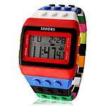 Heren Dames Uniseks Modieus horloge Horloge Hout Digitaal horloge Digitaal LCD Kalender Chronograaf alarm Plastic Band Snoep Cool 2017 - €5.87