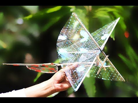 DIY Rubber Band Ornithopter - How to Make a Rubber Band Ornithopter - YouTube