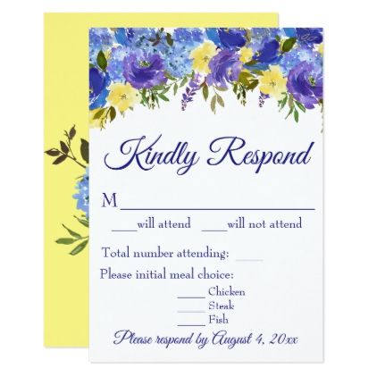 The 25 best Wedding response cards ideas on Pinterest