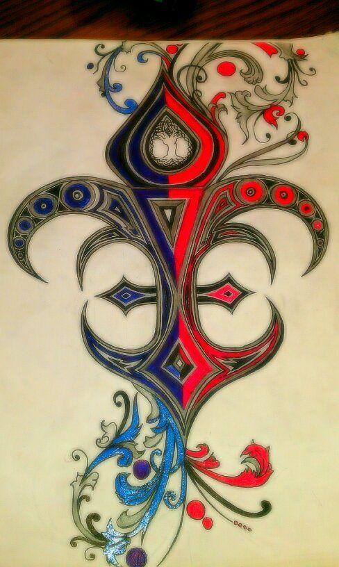 17 best images about fleur de lis on pinterest friendship symbols tat and tunic tops - Tattoo tribal fleur ...