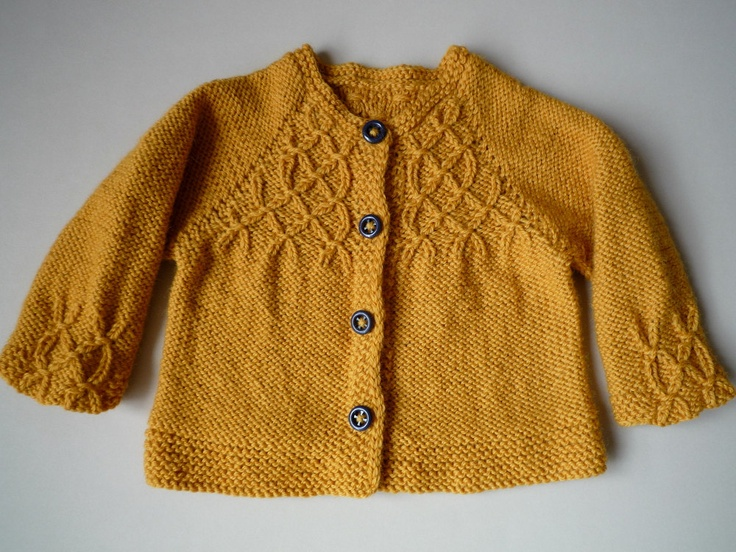 Girls Honeycomb Cardigan - Seamless Hand Knitted Children Sweater - made to order. €75.00, via Etsy.