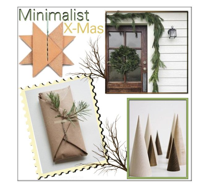 Minimalist Christmas! by whirlypath on Polyvore featuring interior, interiors, interior design, home, home decor and interior decorating
