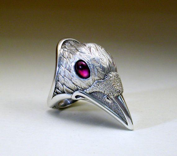 Black & White Pair of Raven Rings от StewartArt1