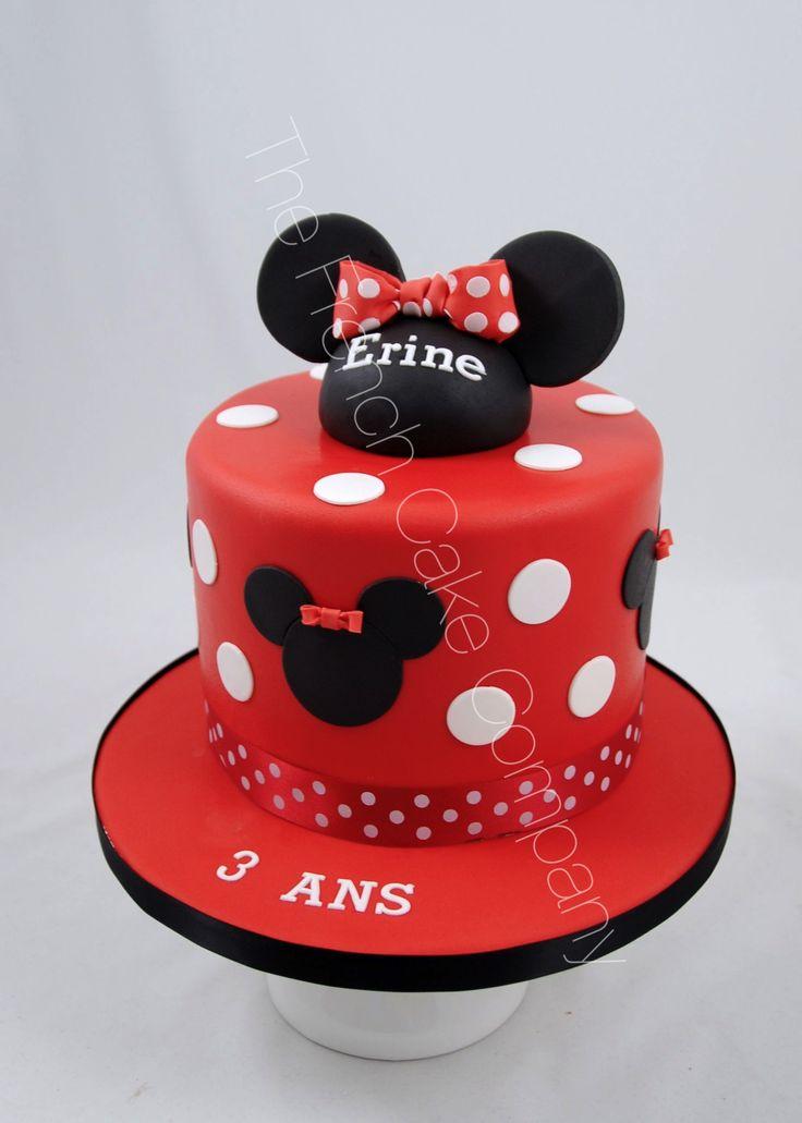 Gâteau d'anniversaire Minnie en rouge Cake Design Belgique
