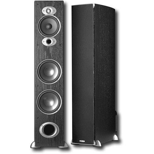"Polk Audio - 7"" 3-Way Floor Speaker (Each) - Black - Angle"
