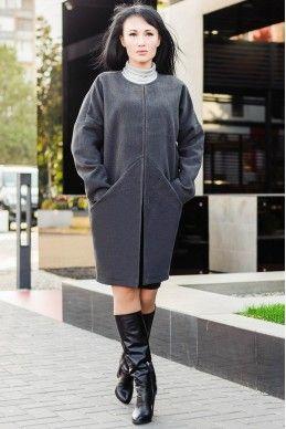 """Короткое пальто """"Маргарита"""", графит"""