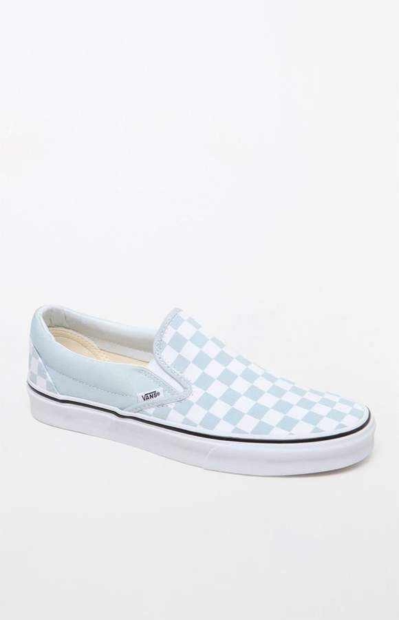 Vans Women s Blue Slip-On Sneakers  2f0560b68d