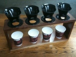 easy and fast .four handed pour over...: Coffee Shops, Coffee 4 Cups, Coff 4 Cups, Coffee Handouts, Flamenco Coffee, Drinks Coffee, Brewing Stands Jpg, 4Cup Brewing, 4 Cups Brewing