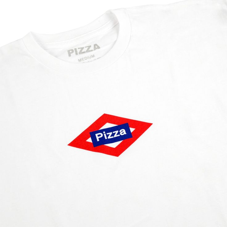 Sol Logo T Shirt in White by Pizza Skateboards