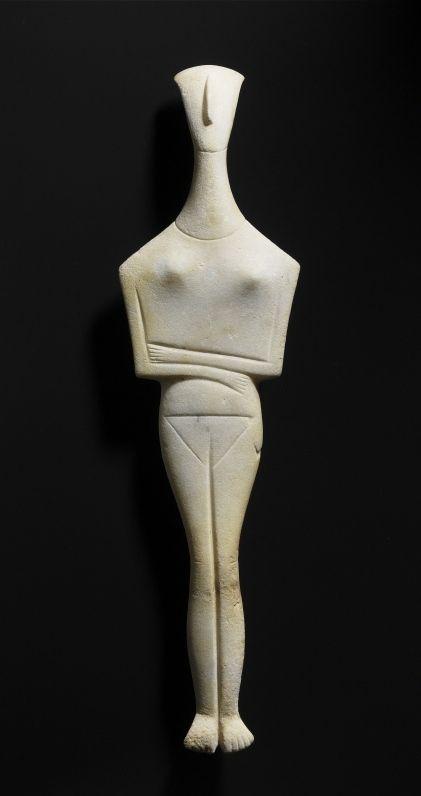 Female idol - Early Cycladic Specifically: 2700 - 2300 BC. © Foto: Antikensammlung der Staatlichen Museen zu Berlin - Preußischer Kulturbesitz