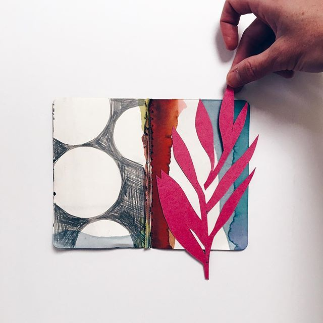 by Eva Magill Oliver. So talented! Love the magenta accent on b&w