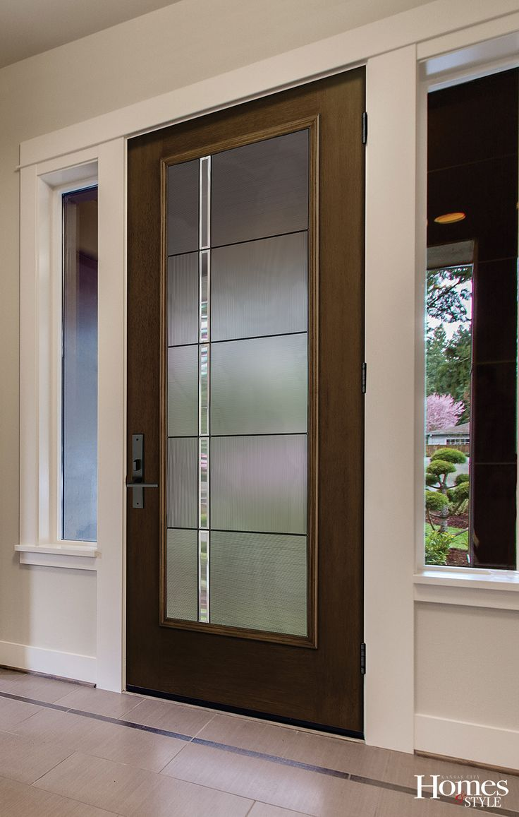 Come home to the warmth of Mahogany with the new Fiber-Classic® Mahogany Collection™. Timeless styles and a rich Mahogany grain join together to create the latest line from Therma-Tru, the leader in fiberglass entry doors. (Full Lite Flush door with Axis glass)