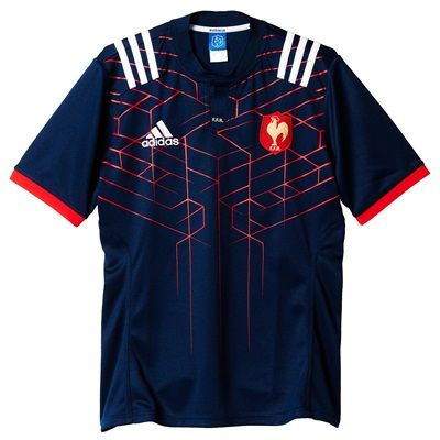 France Rugby Home Shirt 2017-18: France Rugby Home Shirt 2017-18  A retro, laser-like graphic highlights the France 2017-18… #englandrugby