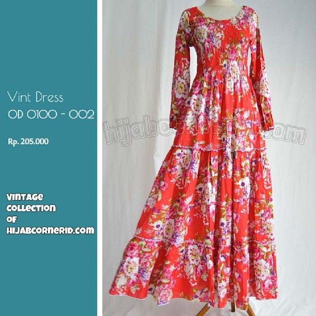 How vintage are you, vint dress fr hijab corner so pretty