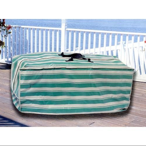 Durable Striped Waterproof Outdoor Vinyl Patio Cushion Storage Bag With Handle