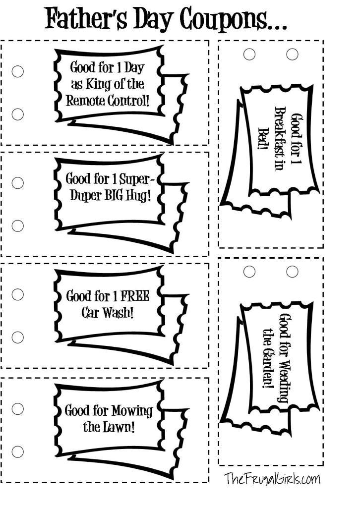 Dad coupon book ideas