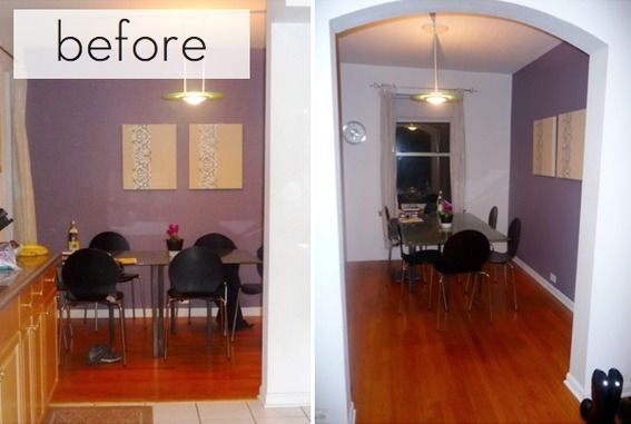 Before and After: Goodbye, Grungy Purple Dining Room