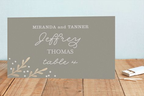 Gilded Branches Foil-Pressed Place Cards by Laura Hankins at minted.com