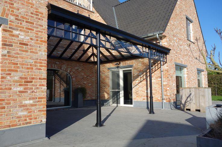 Overkapping pergola aluminium glas tuin pinterest verandas and exterior - Overdekte patio pergola ...