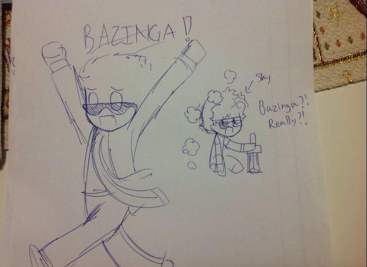 Lol bodil40 BAZINGA!!!! | Sketches, Art, Fan art