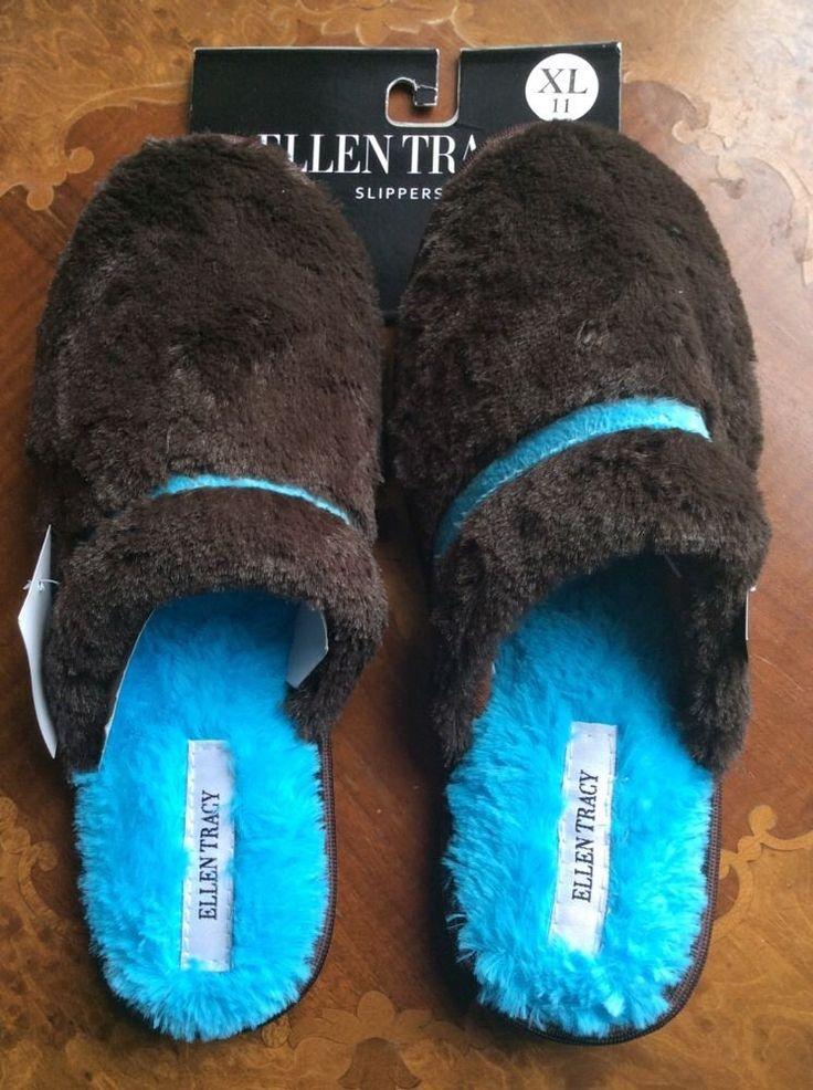ELLEN TRACY Ladies Slippers Size XLarge USA 11, Sole length: 27cm  BNWT