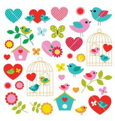 Bird clipart vector collage craft designs by scrapster on VectorStock®