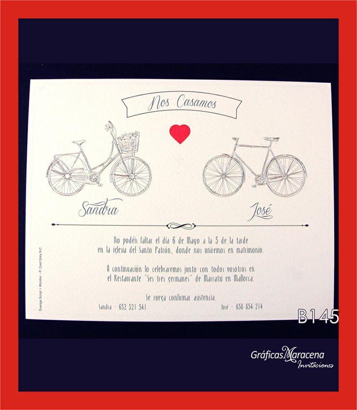 """Invitación de boda """"Bici"""" - Nueva colección"""