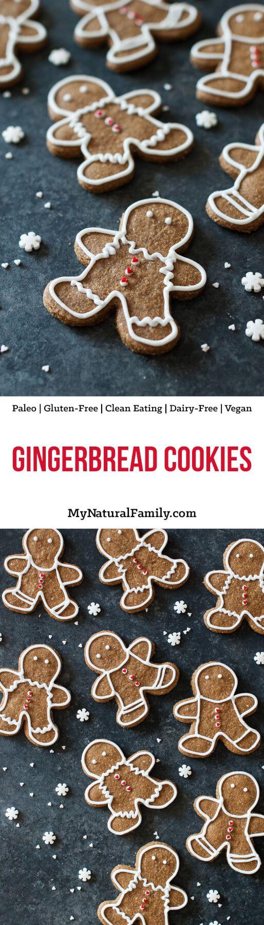 Paleo Gingerbread Cookies Recipe {Paleo, Gluten Free, Clean Eating, Dairy Free, Vegan}