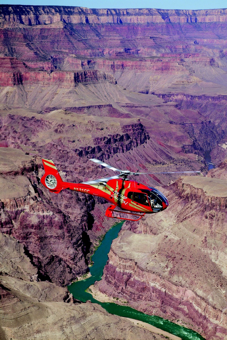 Take a helicopter into the Grand Canyon