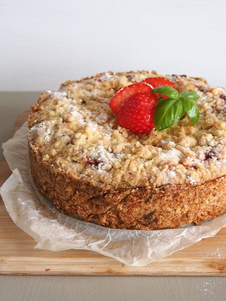 Recept: Kruimeltaart met aardbeien en spijs + verslag Hema Taartenwedstrijd 2016