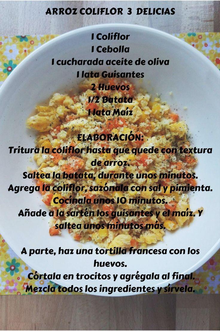 Receta de Arroz Coliflor 3 Delicias. R�pida, r�ca y muy completa.