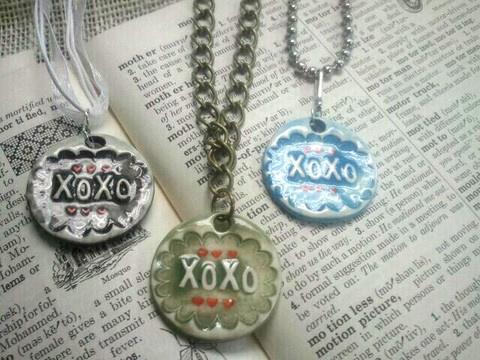great handmade ceramic pendants by B.Y.