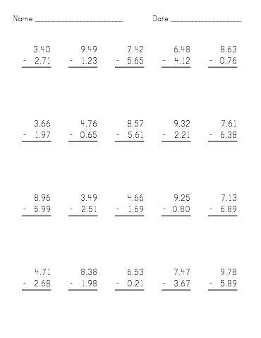 Subtraction Worksheets : subtraction worksheets vertical format ...