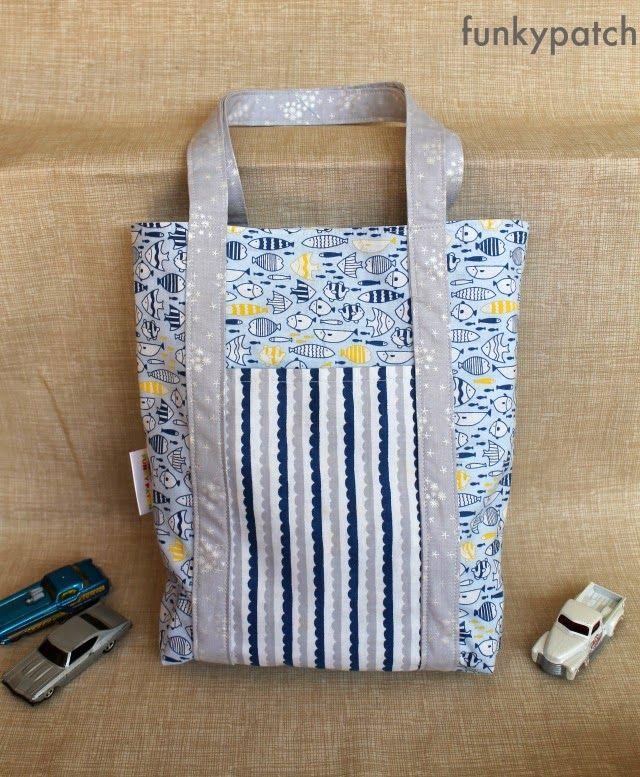 Lucir un bolso muy original este verano es fácil, tan sólo necesitas 3 fat quarters :) #patchwork #diy #handmade
