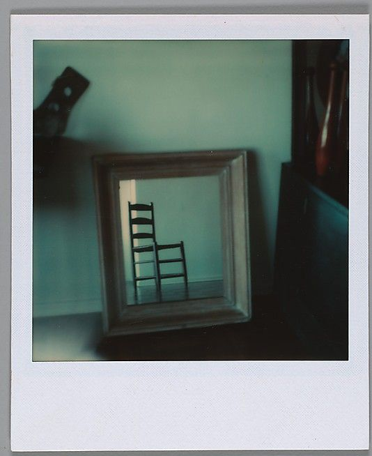 "[Chair Reflection in Mirror] Walker Evans  (American, St. Louis, Missouri 1903–1975 New Haven, Connecticut) Date: 1973–74  ""Paradox is a habit of mine. Now I am going to devote myself with great care to my work in color."" walker evans"