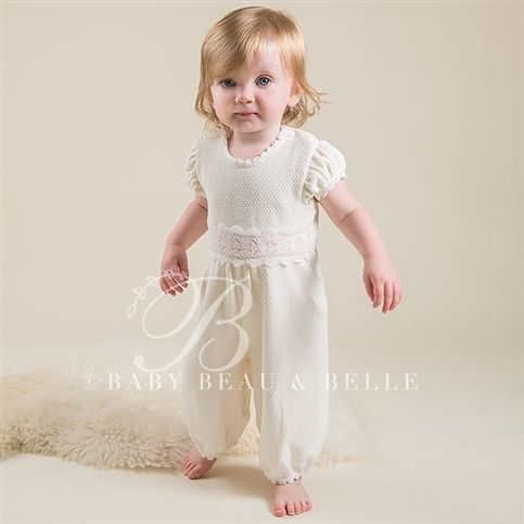 Newborn Girl Jumpsuit - Amy Christening/Baptism Collection - Designer Gowns & Jumpsuits