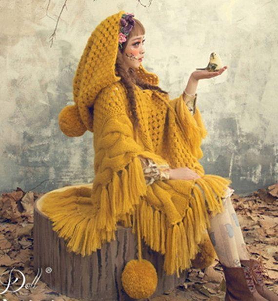 Main bonneterie châle pull forêt d'automne joli par Sexy8baby