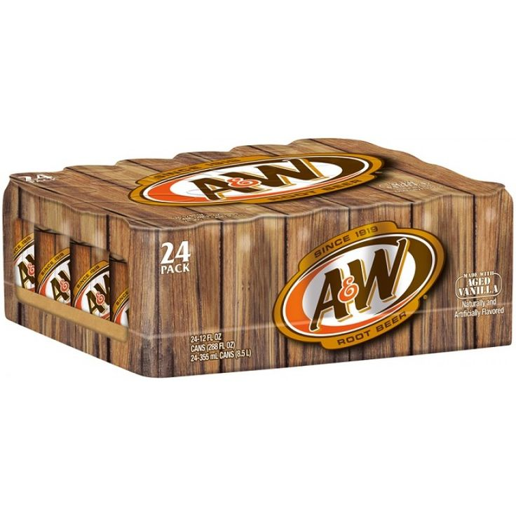 A & W Root Beer 12 pack cans 355ml
