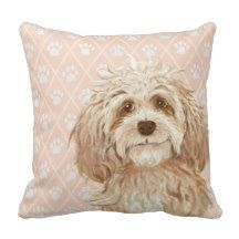 Labradoodle Dog Pillow / Labradoodle Love