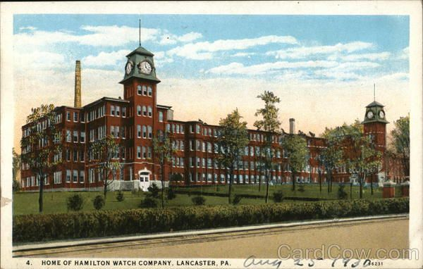 Lancaster PA Home of Hamilton Watch Company Curt Teich & Co.