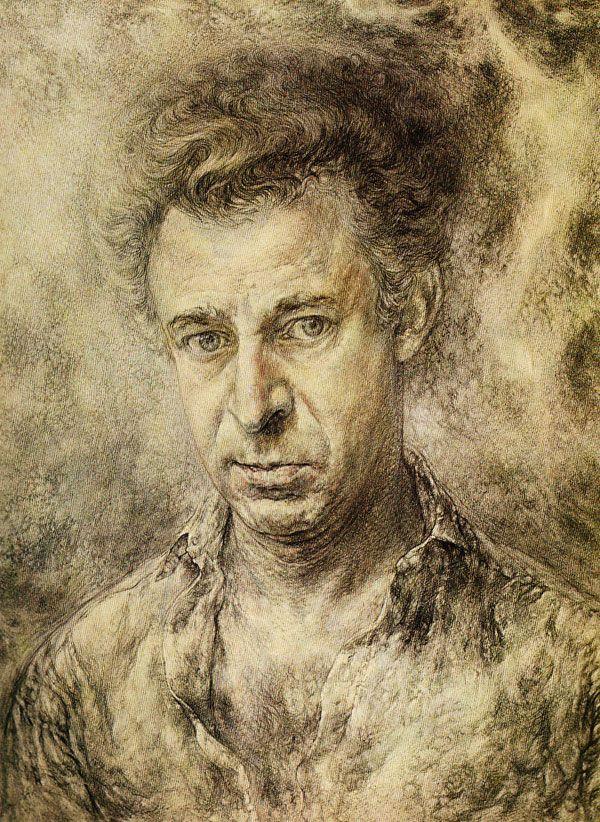 Self Portrait (1962-1965) watercolour Eric Freifeld
